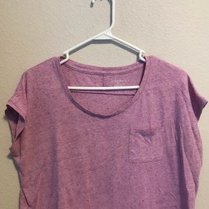 Purple t-shirt with pocket